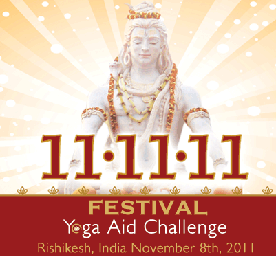 Announcing the 11.11.11 Festival Yoga Aid Challenge!