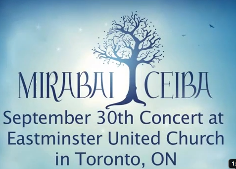 Video: Mirabai Ceiba Live in Toronto 2011