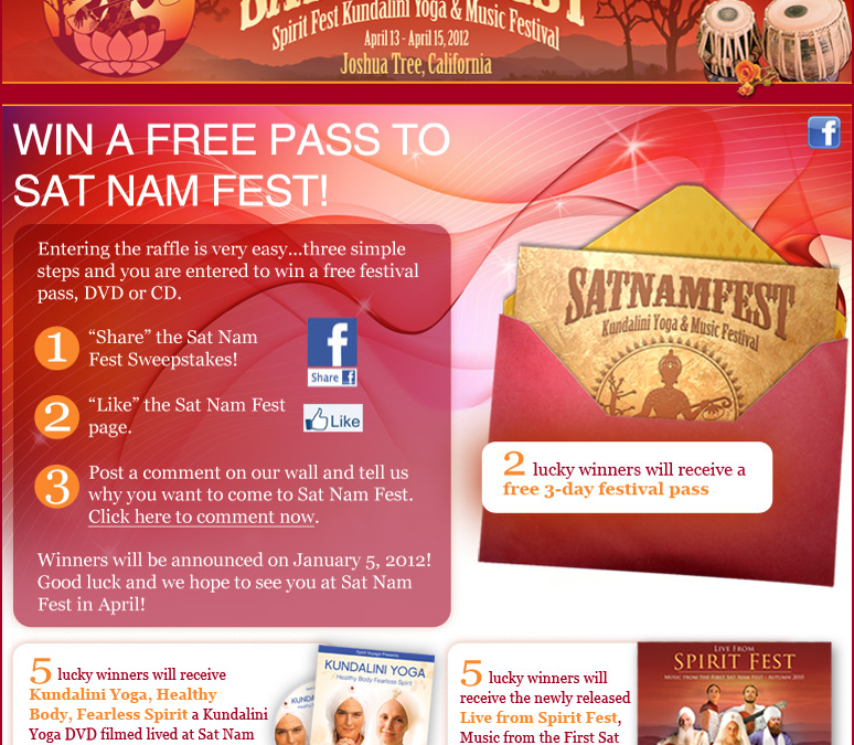 Enter the Sat Nam Fest Sweepstakes to Win a Free Pass!