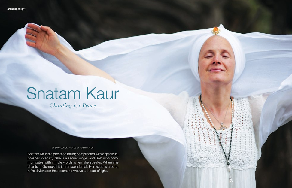 Snatam Kaur Featured in LA Yoga Magazine!